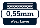 0,55 wear layer